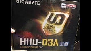 Материнская плата GIGABYTE GA-H110-D3A - 6 карт для майнинга.