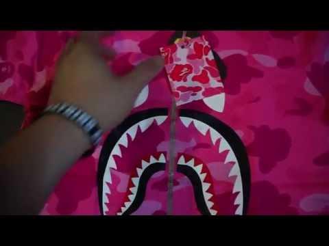 f7657f545 Bathing Ape (BAPE) Ladies Pink Color Camo Shark Face Tee Unboxing ...