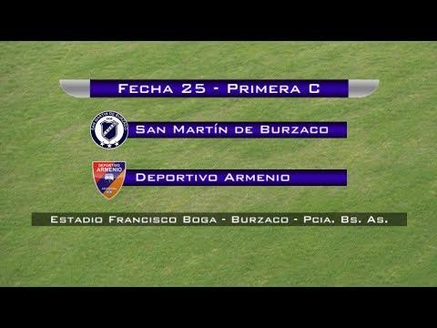 Fecha 25: San Martín de Burzaco vs Deportivo Armenio - EN VIVO