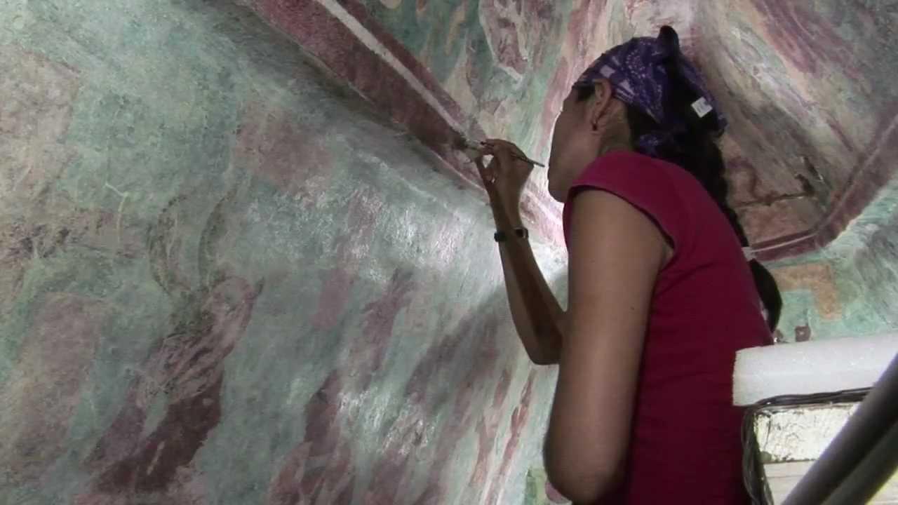 Murales de bonampak recobran viveza de hace mil a os youtube for Bonampak cuarto 2