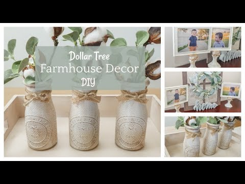 Dollar Tree Farmhouse Decor DIY