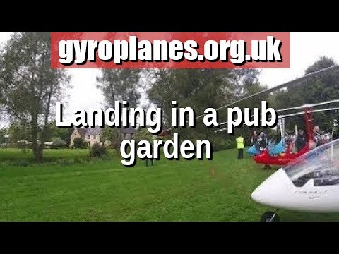 Gyroplane fly-in to the Mill House hotel in Kingham