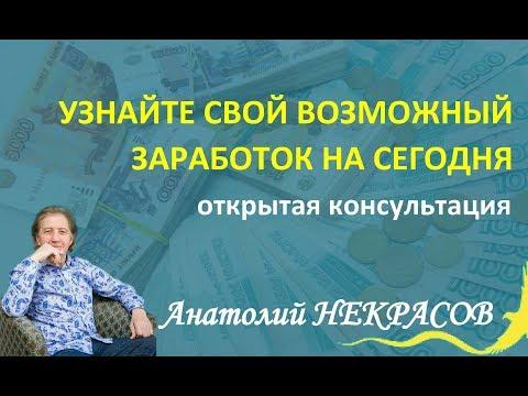Анатолий Некрасов Узнайте свой возможный заработок сегодня