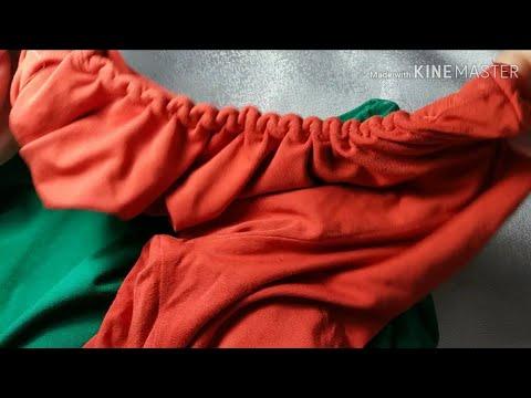 Как уменьшить горловину футболки видео