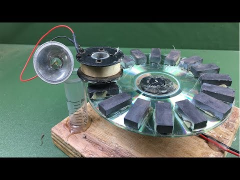 Science Experiment Self Running Machine Free Energy Generator Using Magnets With Fan Motor