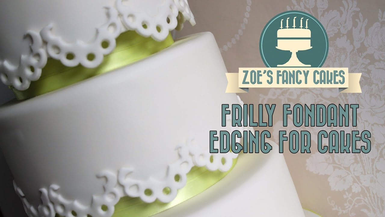 how to make fondant grass border