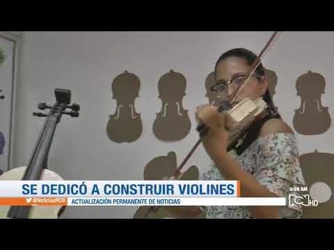 Joven Colombiana  Construye Violines Con Material Reciclados