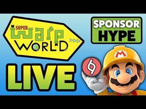 SPONSOR HYPE! - Super Mario Maker [Super Warp World & Random Levels]