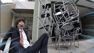 【激闘】パイプ椅子タワーバトル!