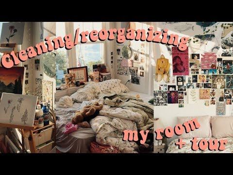 reorganizing + cleaning my room (tour)