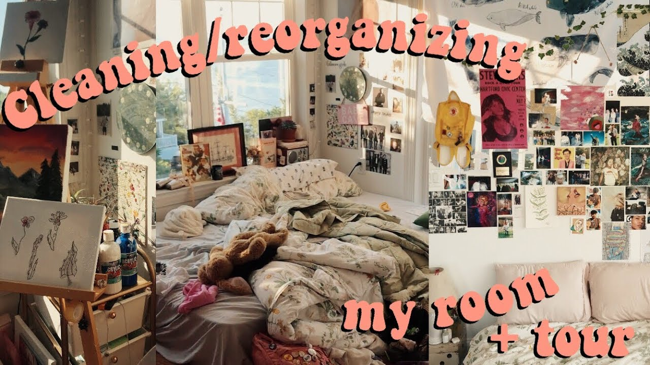 Reorganizing Room: Reorganizing + Cleaning My Room (tour)