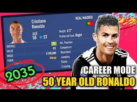 50 YEAR OLD RONALDO IN CAREER MODE (2035) - FIFA 19