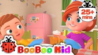 Fruit Song + More Nursery Rhymes & Kids Songs | Boo Boo Kid