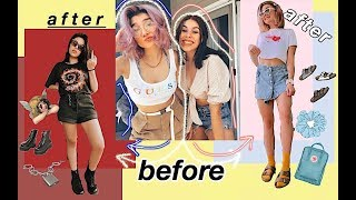 STYLE SWAP AESTHETIC EDGY vs VSCO GIRLY TRANSFORMATION w/ Diana Ren