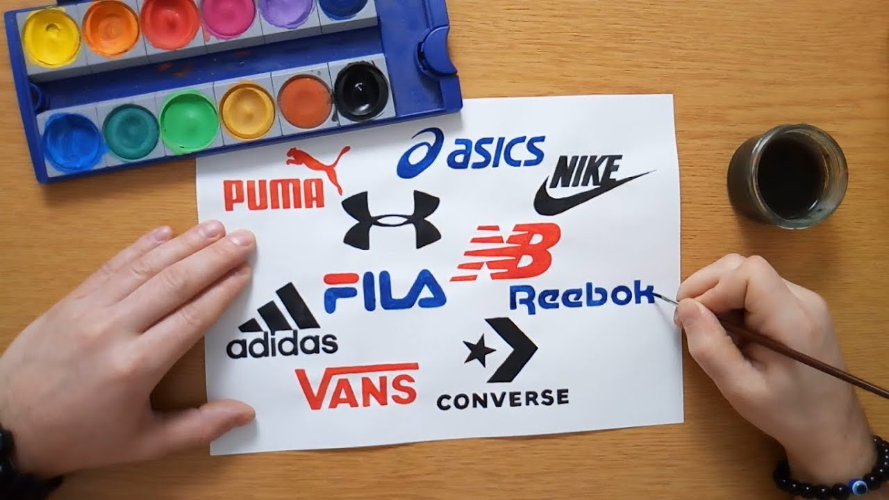 98907fcca189 TOP 10 Most popular sport brand logos - Logo drawing (Nike