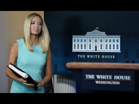JUST IN: Kayleigh McEnany tells reporter to come work at White House