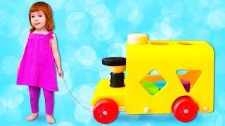 Дада игрушки Бьянки - Деревянная машинка. Развивающие игрушки для малышей