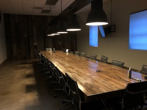 How to build a 25 foot conference table.