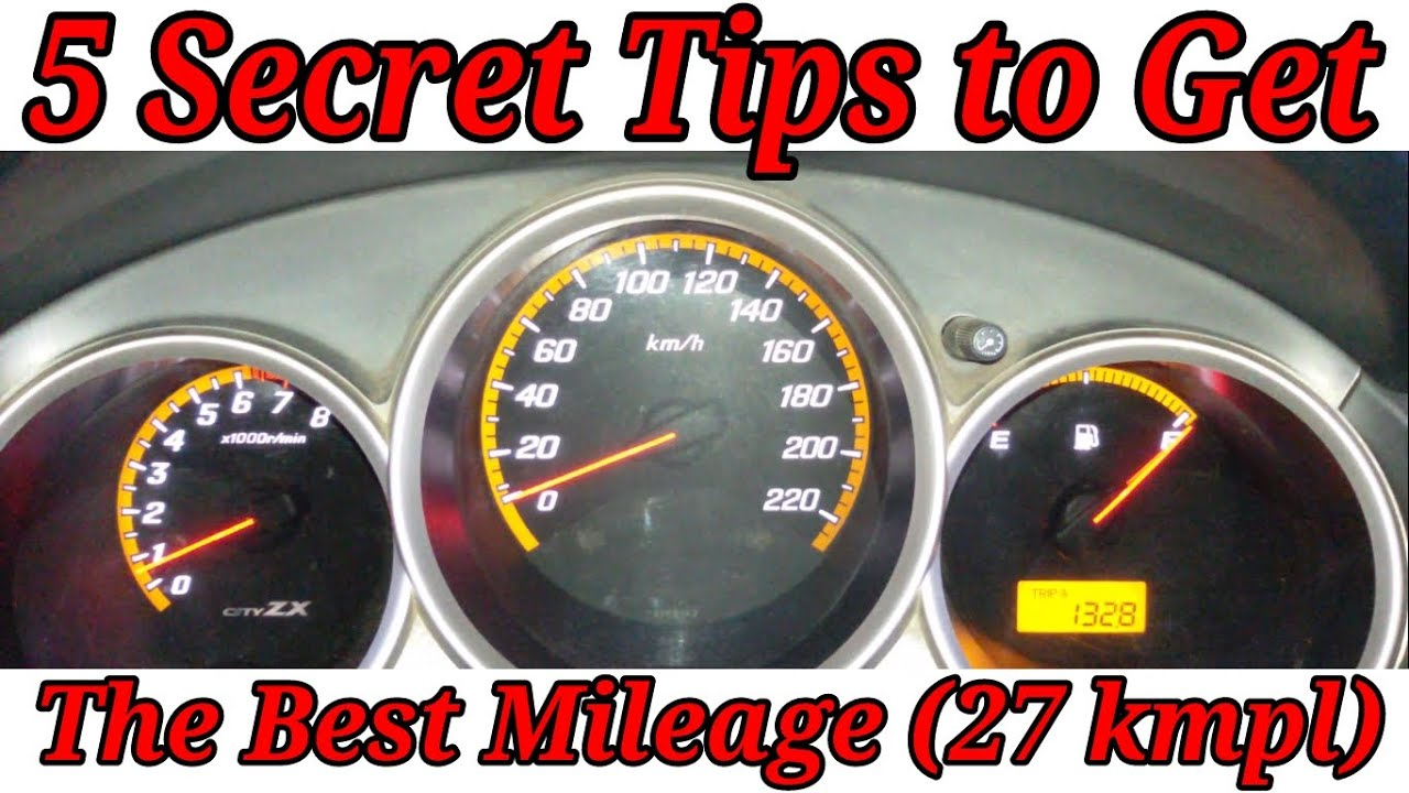Wanna Get 27 Kmpl Mileage ! 5 Tips to Improve Your Fuel Efficiency ...