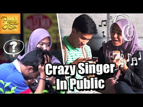 Crazy Singer In Public | Awkward Moments | Prank Asia