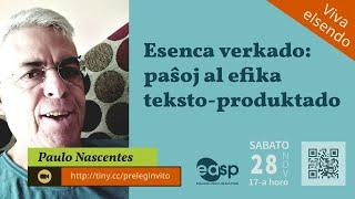 Prelego de  Paulo Nascentes ĉe EASP (virtuale)