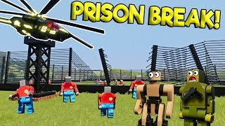 LEGO ROBOT JAILBREAK ESCAPE! - Brick Rigs Gameplay Roleplay - Lego Movie Apocalypse