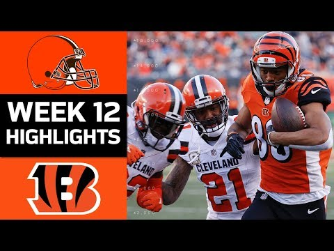 Browns vs. Bengals | NFL Week 12 Game Highlights