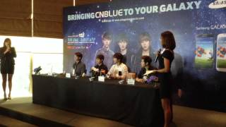 CNBLUE Samsung GALAXY Blue Moon World Tour Press Conference in Malaysia