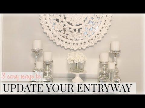 entryway-decorating-ideas- -table-decor- -farmhouse,-glam-+-more!