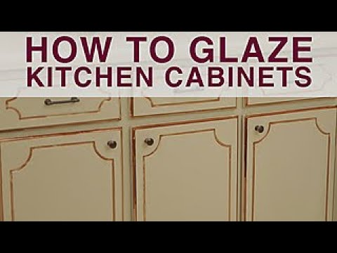How To Glaze Kitchen Cabinets Diy Network Youtube