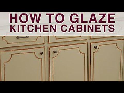 glazed kitchen cabinets racks how to glaze diy network youtube