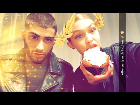 Gigi Hadid | All Snapchat Videos | 2016 | ft Zayn Malik & Taylor Swift
