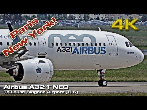 Airbus A321 NEO [4K] Paris New York! (Now Flying Long Range)