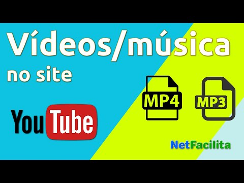 Vídeo do YouTube, mp4 e música mp3 no site pronto
