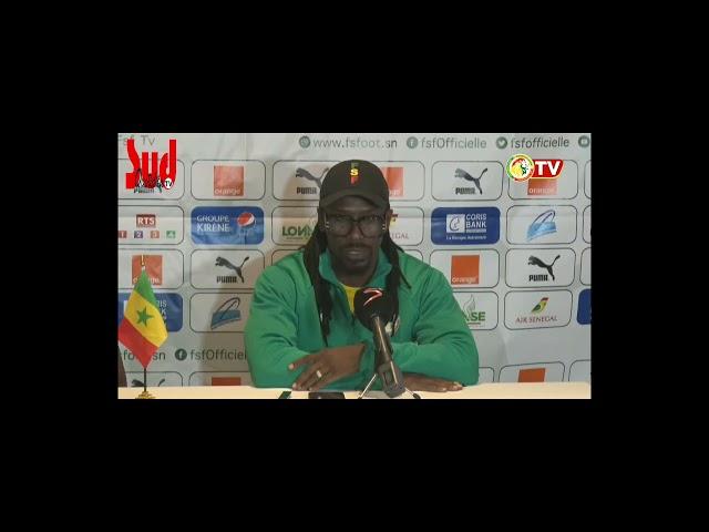 """Nous sommes là pour gagner"""", Aliou Cissé, avant le match retour contre la Namibie"""
