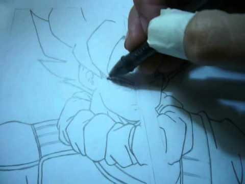 Sombreando dibujo de Goku - YouTube