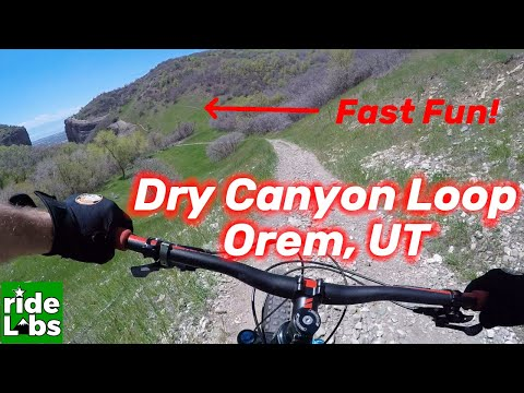 Mountain Biking Utah, Dry Canyon Loop, Orem UT