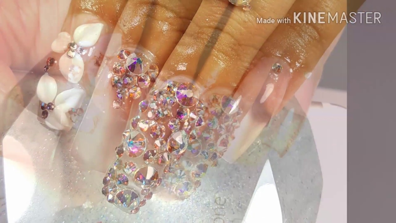 Unas Con Piedras Swarovski Of U As Acr Licas Con Swarovski 2016 Youtube