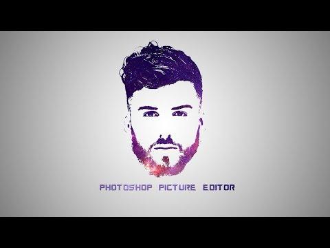 Photoshop Tutorial - Galaxy Logo Design From Face