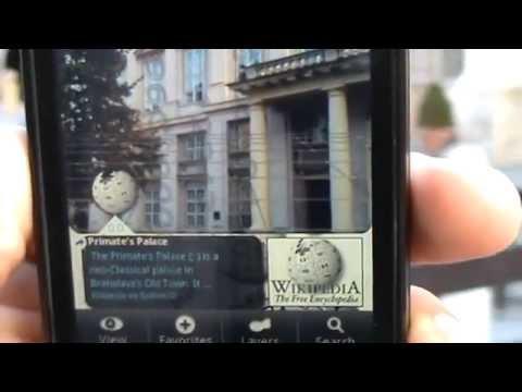 Bratislava with Augmented reality using Layar II.