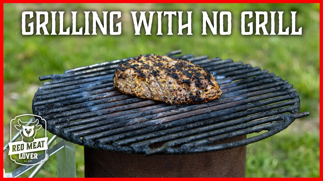 How To Grill Steak WITHOUT a Grill?  Charcoal Chimney HACK!