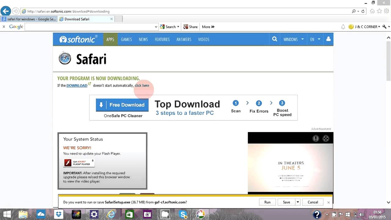 HOW TO DOWNLOAD SAFARI WEB BROWSER IN WINDOWS PC 2015 | J & C TV