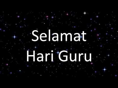 Lagu Guru Malaysia (Versi Minus One)