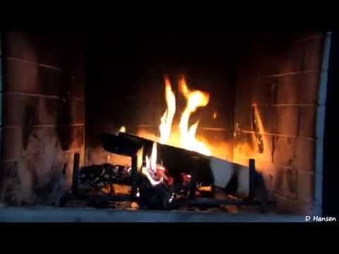 Virtual Fireplace with Crackling Fire Sounds Full HD