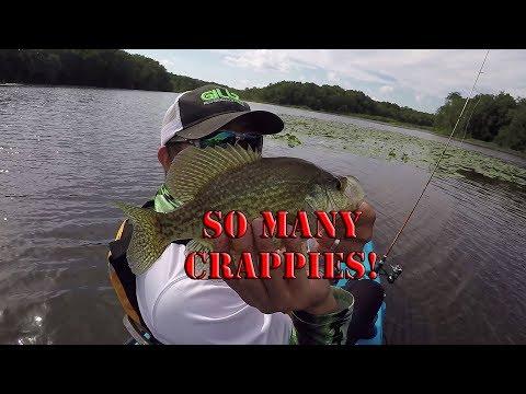 Crappie Fishing Galore - Kayak Fishing - South New Jersey Slabs