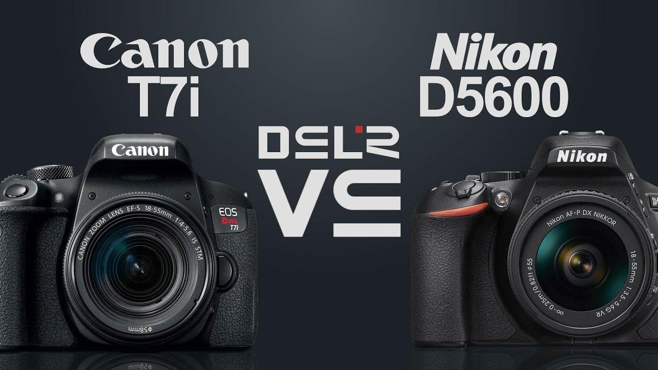 Canon Eos Rebel T7i 800dx9i Vs Nikon D5600 Youtube