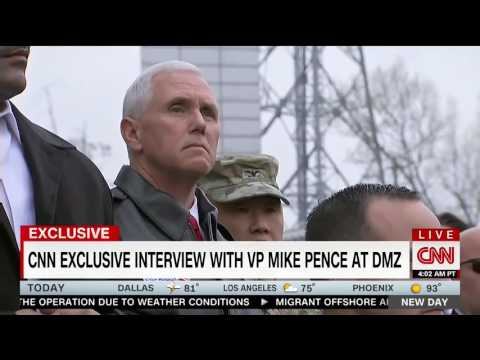 "Mike Pence Stares Down North Korean Soldiers at DMZ: ""This is the Frontier of Freedom."""