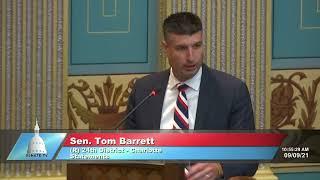 Sen. Barrett remembers 9/11, military service