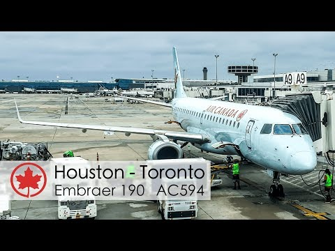 TRIP REPORT | Air Canada Business Class | Houston - Toronto | ERJ190