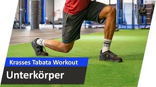 Extremes Tabata Bein-Training  - Komplettes Training zum Mitmachen #01   Andiletics